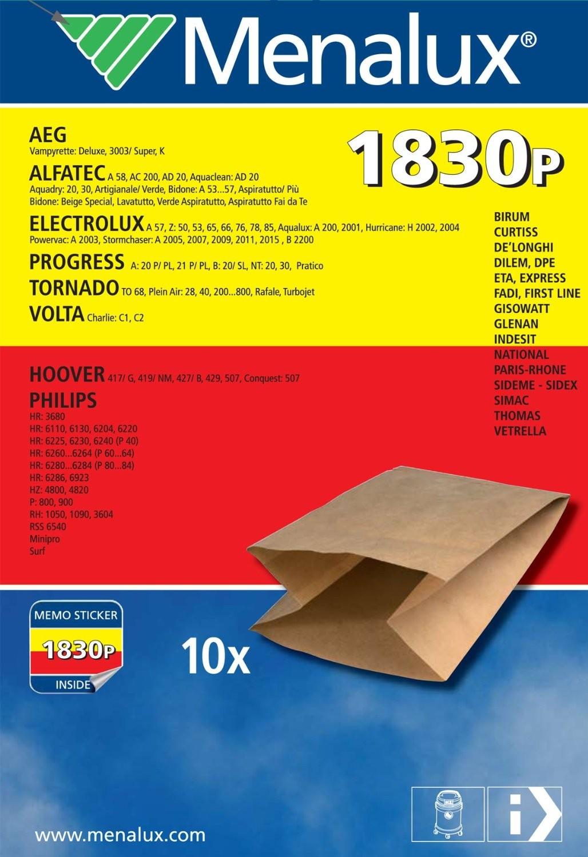 Menalux 1071 P Sacchetti per aspirapolvere 10 pezzi