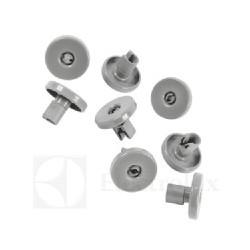 Kit ruote grigio per cesto lavastoviglie (8 pezzi) inferiori