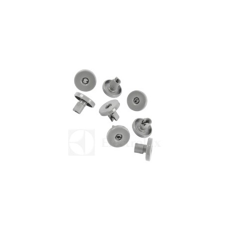 Kit ruote grigio per cesto lavastoviglie (8 pezzi)